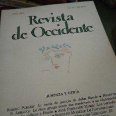 Coleccionismo de Revistas y Periódicos: REVISTA DE OCCIDENTE JUSTICIA Y ÉTICA NUM 35. Lote 205852513