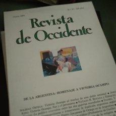 Coleccionismo de Revistas y Periódicos: REVISTA DE OCCIDENTE.37. JUNIO 1984. HOMENAJE A VICTORIA OCAMPO.ARGENTINA.. Lote 205852586