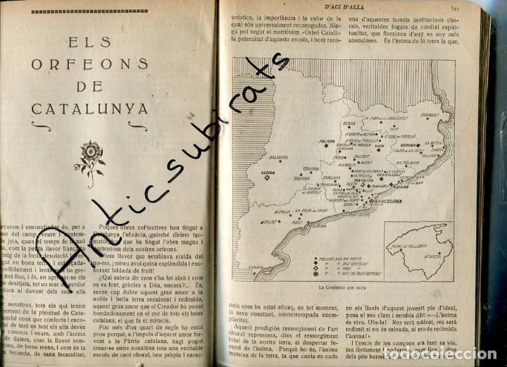 REVISTA ANY 1920 ORFEONS DE CATALUNYA AMETLLA DE MEROLA BERGA SURIA SOLSONA MANRESA PONT VILOMARA (Coleccionismo - Revistas y Periódicos Antiguos (hasta 1.939))