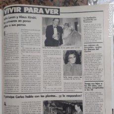 Coleccionismo de Revistas y Periódicos: SOFIA LOREN KLAUS KINSKI. Lote 205872162