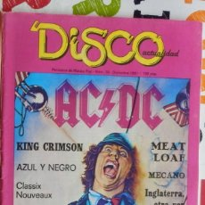 Coleccionismo de Revistas y Periódicos: REVISTA DISCO ACTUALIDAD NÚMERO 19 (DICIEMBRE 1981 - AC/DC, RADIO FUTURA, MECANO, E. COSTELLO, OBUS. Lote 206166440