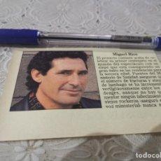 Coleccionismo de Revistas y Periódicos: MIGUEL RÍOS RECORTE REVISTA 1992. Lote 206185615