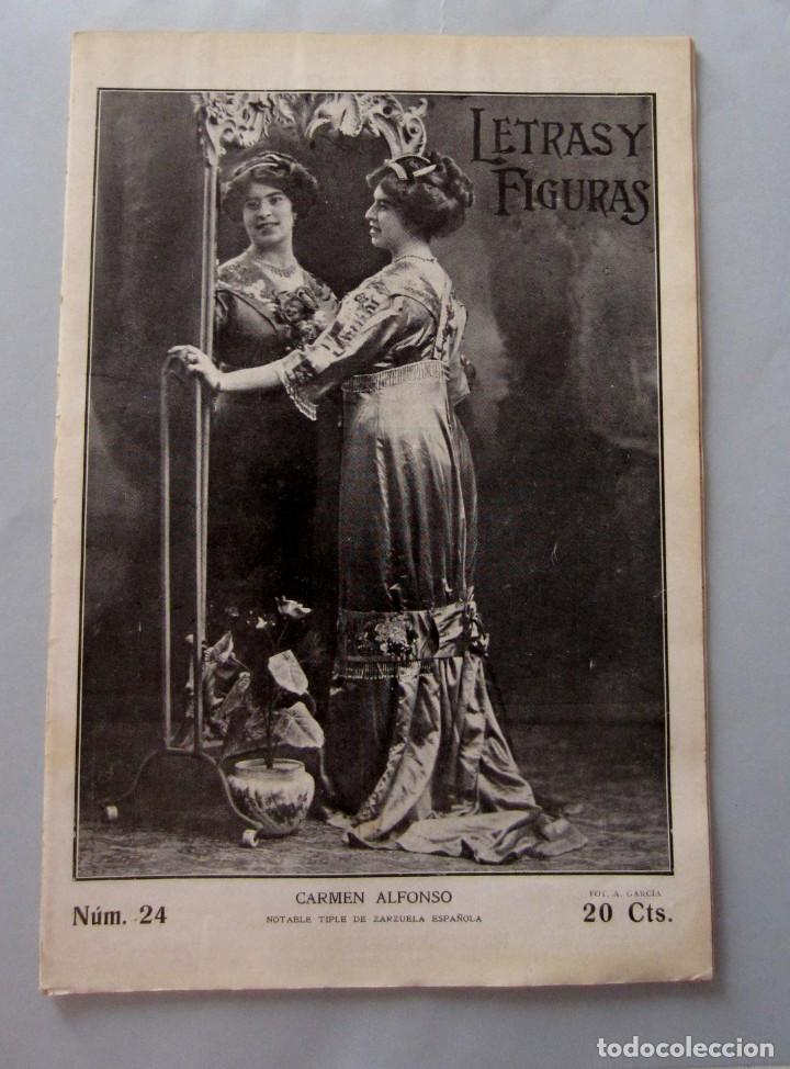 LETRAS Y FIGURAS Nº 24 15 JULIO 1911 FERIA VALENCIA PEREGRINACIÓN VILLARREAL RAID ALICANTE ALCAZAR (Coleccionismo - Revistas y Periódicos Antiguos (hasta 1.939))