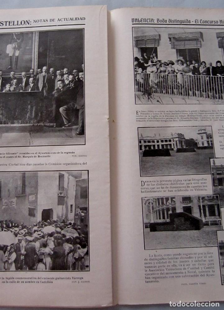 Coleccionismo de Revistas y Periódicos: Letras y Figuras nº 24 15 Julio 1911 Feria Valencia Peregrinación Villarreal Raid Alicante Alcazar - Foto 4 - 206213560