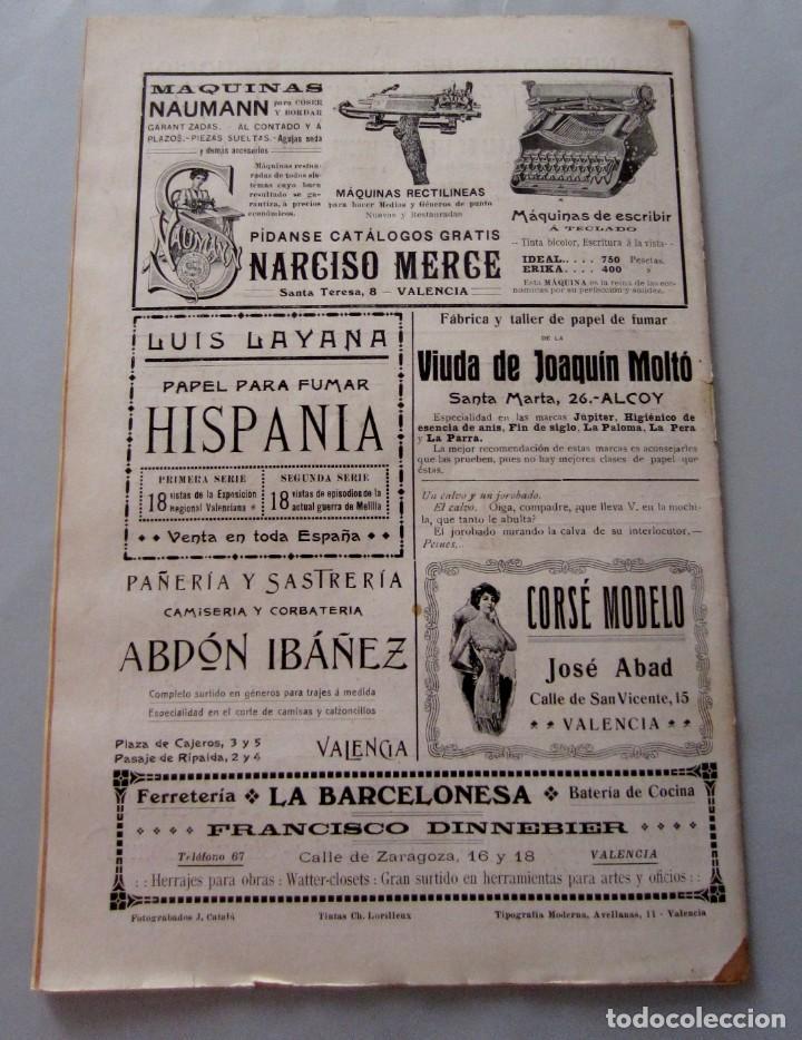 Coleccionismo de Revistas y Periódicos: Letras y Figuras nº 24 15 Julio 1911 Feria Valencia Peregrinación Villarreal Raid Alicante Alcazar - Foto 6 - 206213560