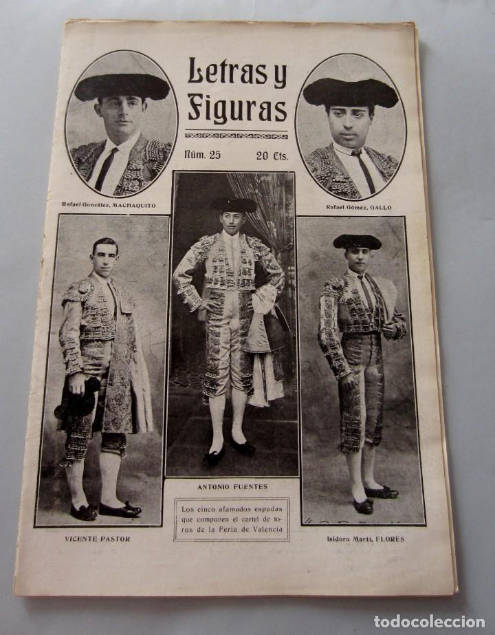 LETRAS Y FIGURAS Nº 25 22 JULIO 1911 HÉROES TARRAGONA MONEDA FALSA BARCELONA ZAMORA ZARAGOZA HUELGA (Coleccionismo - Revistas y Periódicos Antiguos (hasta 1.939))