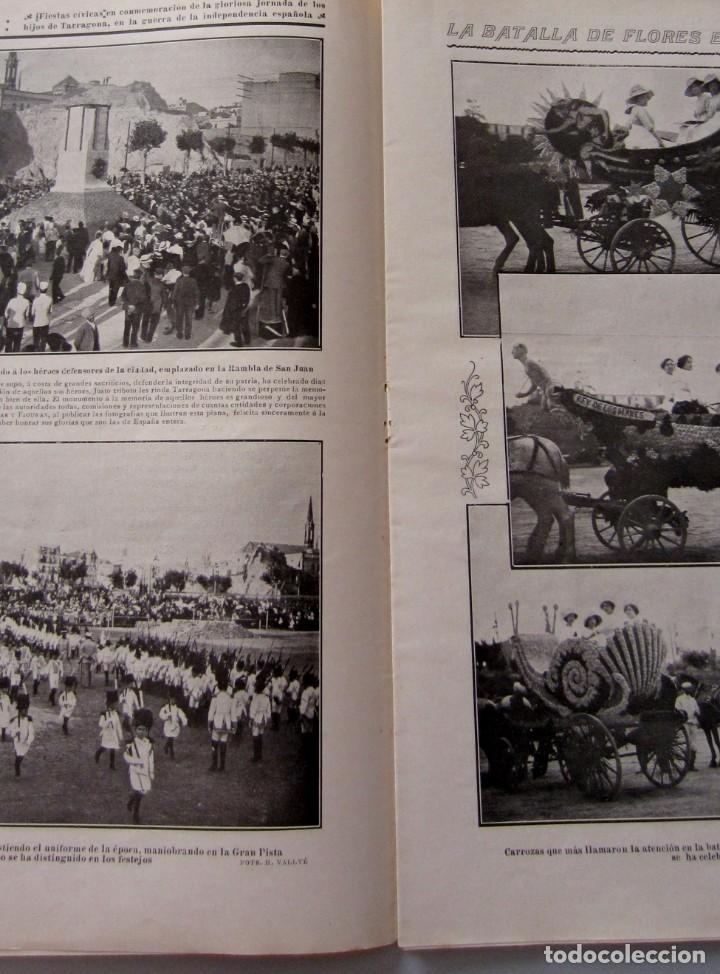 Coleccionismo de Revistas y Periódicos: Letras y Figuras nº 25 22 Julio 1911 Héroes Tarragona Moneda falsa Barcelona Zamora Zaragoza huelga - Foto 3 - 206216781