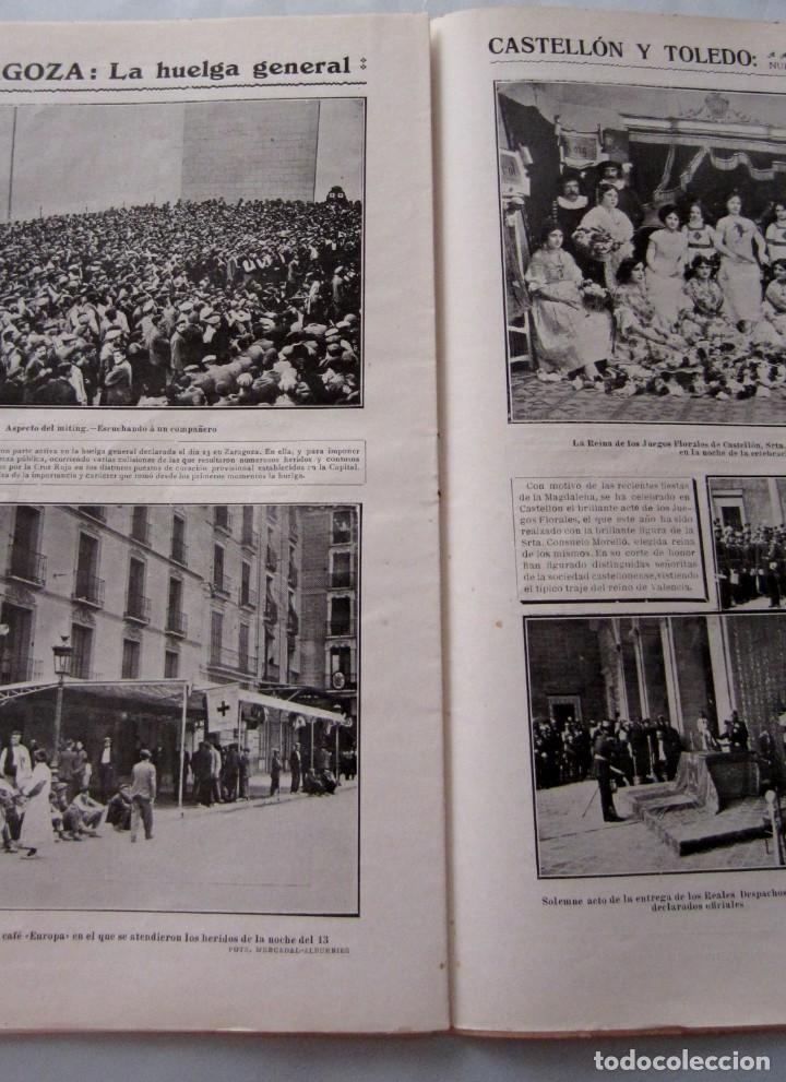 Coleccionismo de Revistas y Periódicos: Letras y Figuras nº 25 22 Julio 1911 Héroes Tarragona Moneda falsa Barcelona Zamora Zaragoza huelga - Foto 6 - 206216781