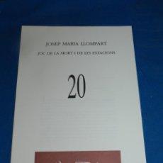 Coleccionismo de Revistas y Periódicos: (M) REVISTA VÈRTEX N.20 JOSEP MARIA LLOMPART - JOC DE LA MORT , EDICIÓ DE 191 EXEMPLARS. Lote 206216960