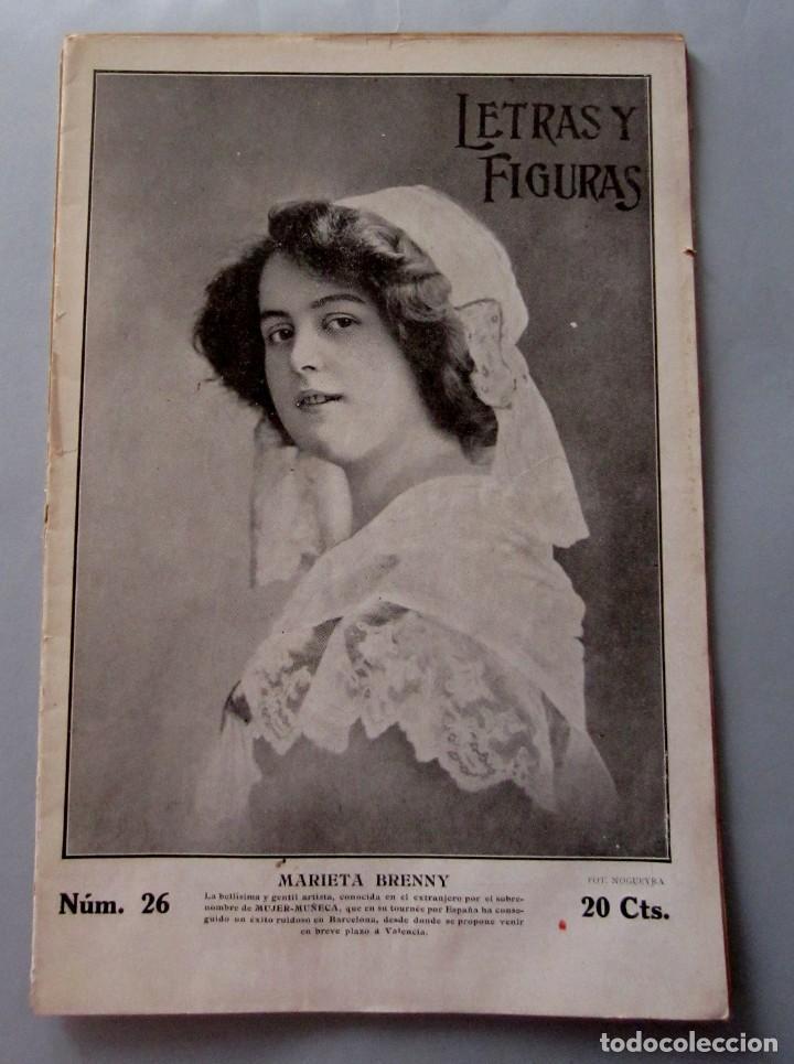 LETRAS Y FIGURAS Nº 26 29 JULIO 1911 COSO AZUL Y BLANCO LO RAT PENAT PRINCIPAL CRIMEN JÁTIVA GERONA (Coleccionismo - Revistas y Periódicos Antiguos (hasta 1.939))