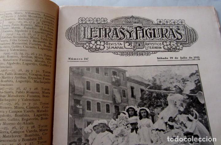 Coleccionismo de Revistas y Periódicos: Letras y Figuras nº 26 29 Julio 1911 Coso Azul y Blanco Lo Rat Penat Principal Crimen Játiva Gerona - Foto 2 - 206220576