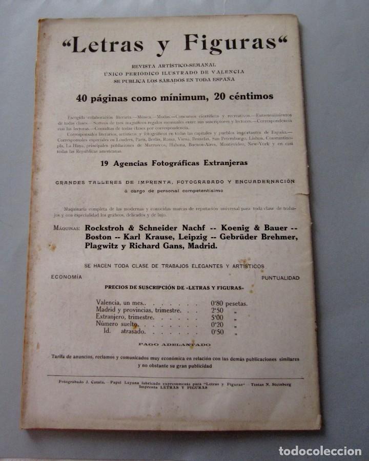 Coleccionismo de Revistas y Periódicos: Letras y Figuras nº 26 29 Julio 1911 Coso Azul y Blanco Lo Rat Penat Principal Crimen Játiva Gerona - Foto 7 - 206220576