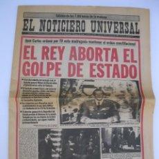 Coleccionismo de Revistas y Periódicos: EL NOTICIERO UNIVERSAL - 24 DE FEBRERO DE 1981 - EL REY ABORTA EL GOLPE DE ESTADO - 23-F.. Lote 206361477