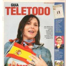 Coleccionismo de Revistas y Periódicos: GUÍA TELETODO. ROSA DE ESPAÑA/ EL RETORNO DEL JEDI/ EUROVISIÓN. 24/5/2002(ST/P). Lote 206392363