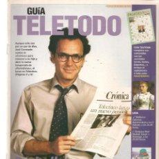Coleccionismo de Revistas y Periódicos: GUÍA TELETODO. PERIODISTAS / ANA MARÍA OROZCO / 12/4/2002(ST/P). Lote 206393620