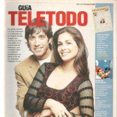 Coleccionismo de Revistas y Periódicos: GUÍA TELETODO. EMILIO ARAGÓN / MANEL FUENTES / U2 / 11 ENERO 2002(ST/P). Lote 206418710