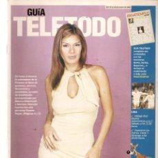 Coleccionismo de Revistas y Periódicos: GUÍA TELETODO. YVONNNE REYES / JESULÍN / ANTONIA DELL´ATTE/ 18 ENERO 2002(ST/P). Lote 206419535