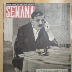 Coleccionismo de Revistas y Periódicos: REVISTA SEMANA AÑO 1940 NUM 40, FUNERAL DE JOSÉ ANTONIO PRIMO DE RIVERA. HITLER. Lote 206443498