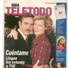 Coleccionismo de Revistas y Periódicos: GUÍA TELETODO. CUÉNTAME / ANDONI FERREÑO / EL GRAN WYOMING / 11 OCT. 2002.(ST/P). Lote 206447548
