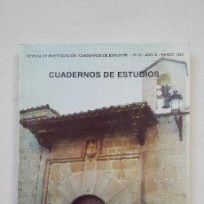 Coleccionismo de Revistas y Periódicos: CUADERNOS DE ESTUDIOS. REVISTA DE INVESTIGACION Nº 10. AÑO IX. MARZO 1998. COLMENAR VIEJO. TDK181. Lote 206465248