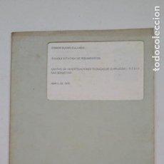 Coleccionismo de Revistas y Periódicos: RIGIDEZ ESTATICA DE RODAMIENTOS. RAMON BUENO ZULUAGA. SAN SEBASTIAN 1970. TDKC55. Lote 206472320