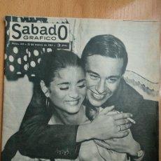 Coleccionismo de Revistas y Periódicos: SABADO GRÁFICO NÚM. 234 . 25 DE MARZO DE 1961 - LA CHUNGA SE HA CASADO. Lote 206472945