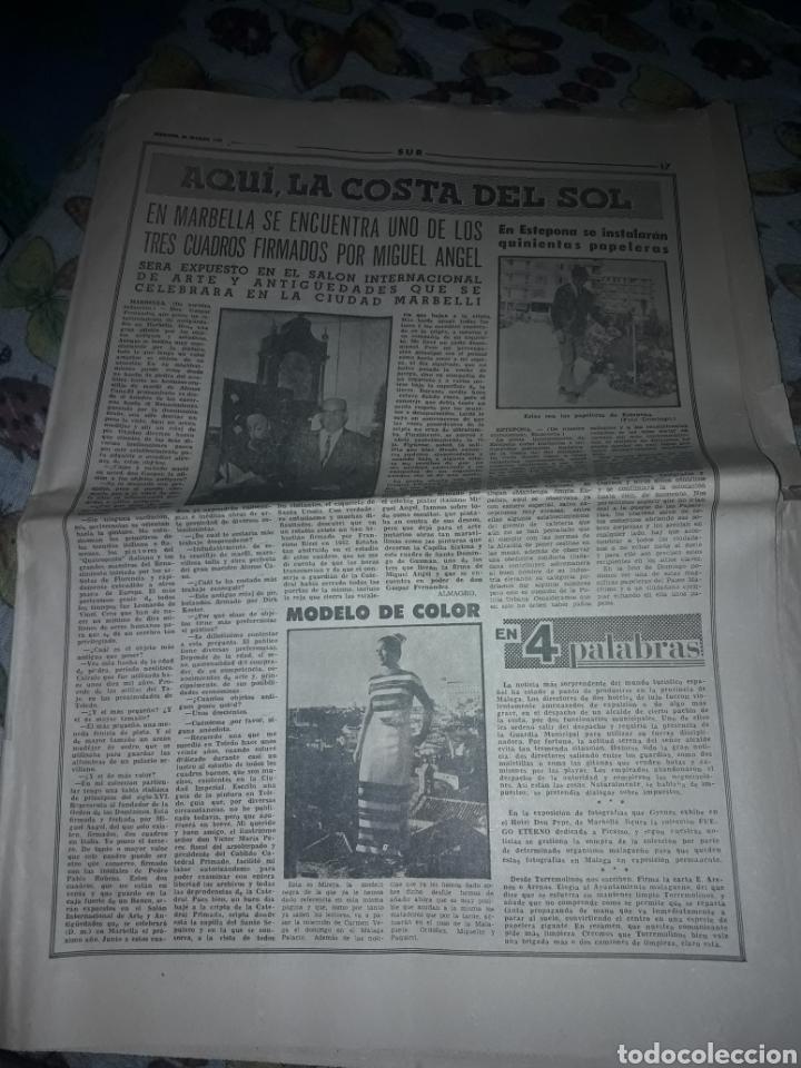 Coleccionismo de Revistas y Periódicos: Diario Sur completo viernes 24 de de Marzo de 1967. - Foto 3 - 206578013