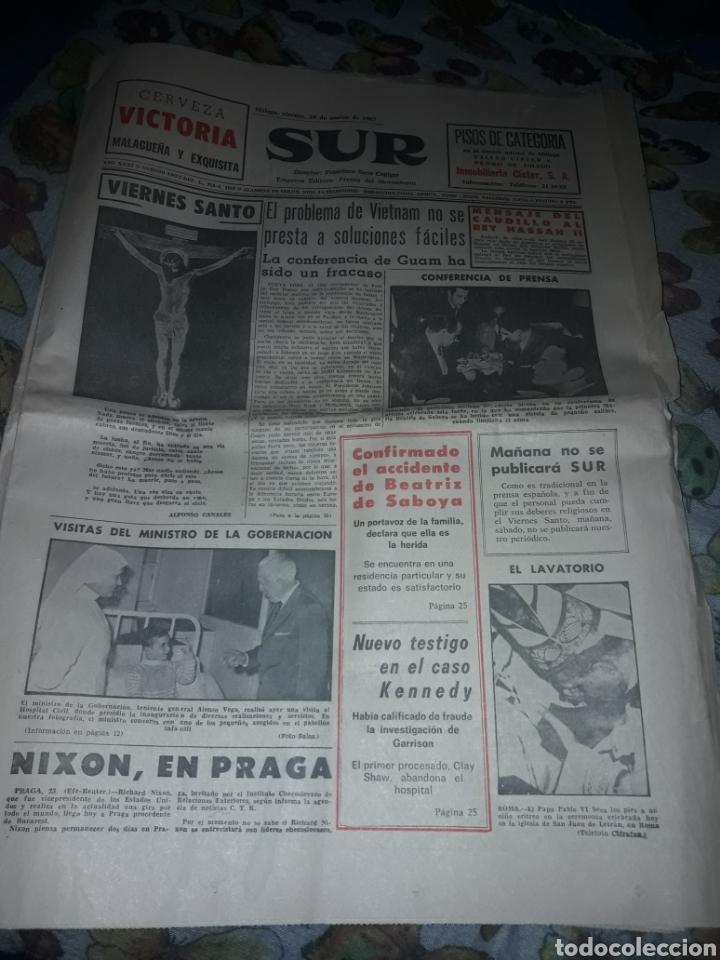 DIARIO SUR COMPLETO VIERNES 24 DE DE MARZO DE 1967. (Coleccionismo - Revistas y Periódicos Modernos (a partir de 1.940) - Otros)