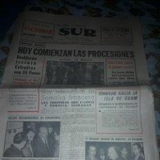 Coleccionismo de Revistas y Periódicos: DIARIO SUR DEL 19 DE MARZO DE 1967 COMPLETO.. Lote 206579082