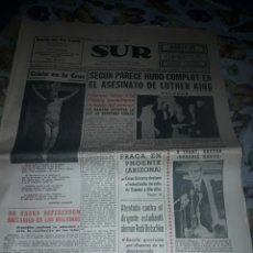 Coleccionismo de Revistas y Periódicos: DIARIO SUR DEL 12 DE ABRIL DE 1968 COMPLETO.. Lote 206580645