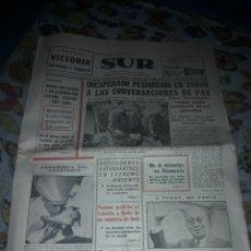 Coleccionismo de Revistas y Periódicos: DIARIO SUR DEL 14 DE ABRIL DE 1968 COMPLETO. Lote 206581086