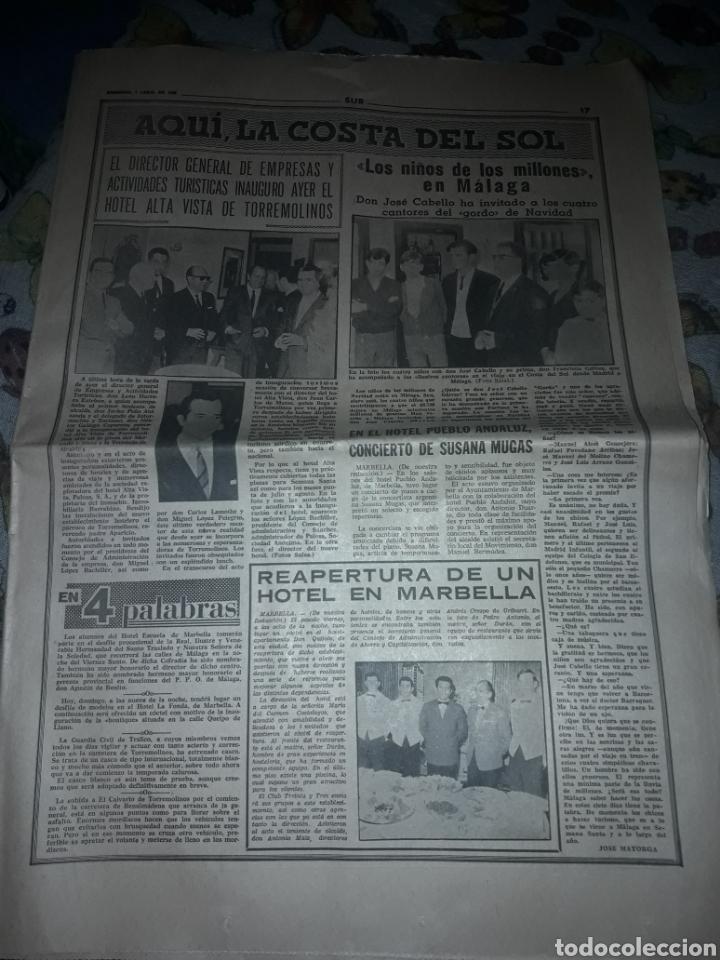 Coleccionismo de Revistas y Periódicos: Diario Sur del Domingo 7 de Abril de 1968 completo y con suplemento de Semana Santa. - Foto 3 - 206582235