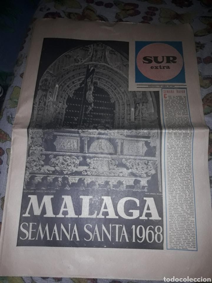 Coleccionismo de Revistas y Periódicos: Diario Sur del Domingo 7 de Abril de 1968 completo y con suplemento de Semana Santa. - Foto 5 - 206582235