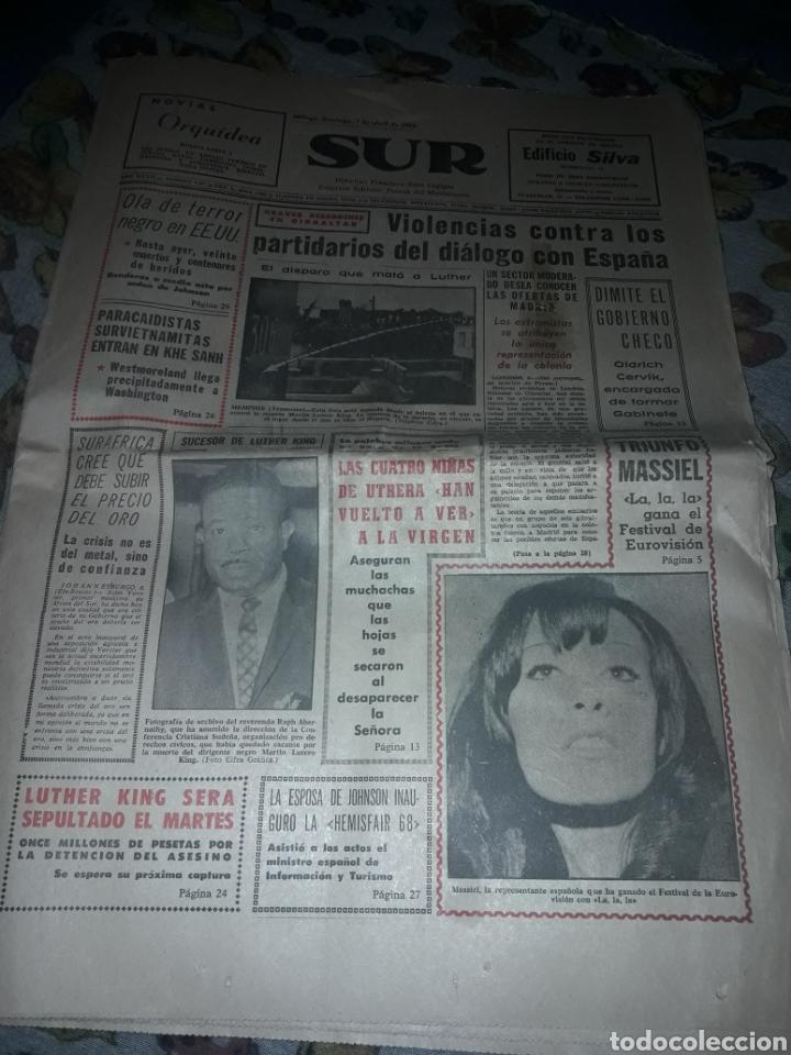 DIARIO SUR DEL DOMINGO 7 DE ABRIL DE 1968 COMPLETO Y CON SUPLEMENTO DE SEMANA SANTA. (Coleccionismo - Revistas y Periódicos Modernos (a partir de 1.940) - Otros)