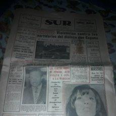Coleccionismo de Revistas y Periódicos: DIARIO SUR DEL DOMINGO 7 DE ABRIL DE 1968 COMPLETO Y CON SUPLEMENTO DE SEMANA SANTA.. Lote 206582235