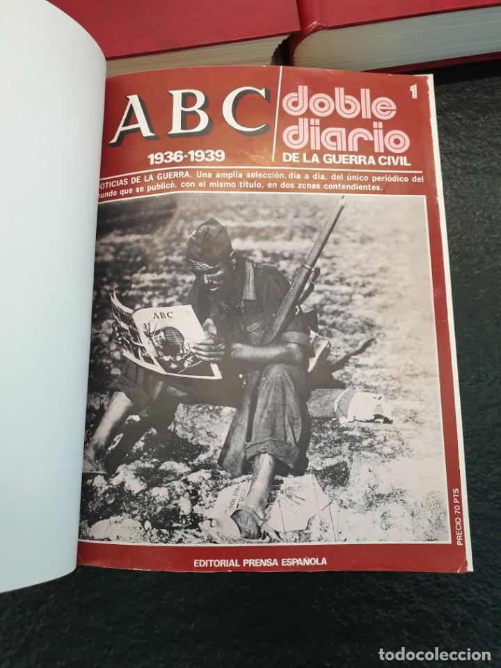 Coleccionismo de Revistas y Periódicos: ABC Doble Diario de la Guerra Civil 1936 a 1939. Hasta fascículo 45. 3 Tomos (Envío 5,43€) - Foto 4 - 206839567