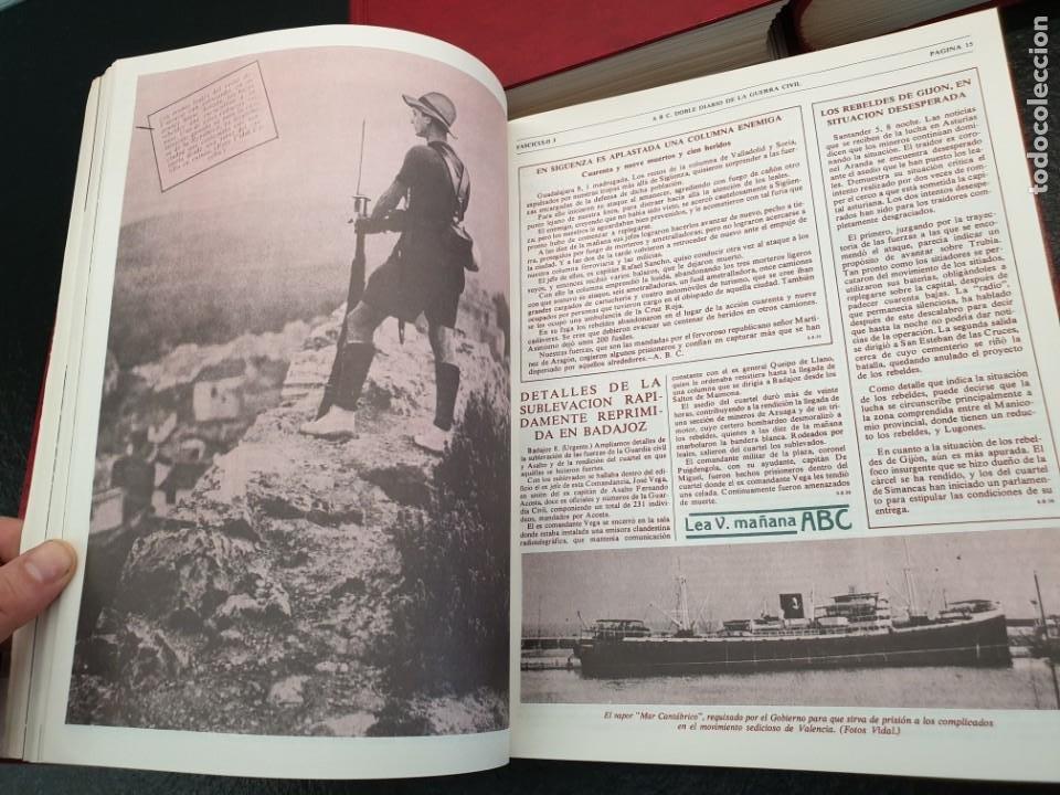 Coleccionismo de Revistas y Periódicos: ABC Doble Diario de la Guerra Civil 1936 a 1939. Hasta fascículo 45. 3 Tomos (Envío 5,43€) - Foto 5 - 206839567