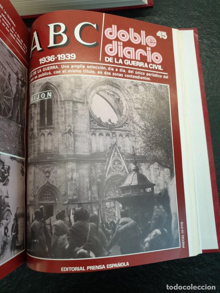 Coleccionismo de Revistas y Periódicos: ABC Doble Diario de la Guerra Civil 1936 a 1939. Hasta fascículo 45. 3 Tomos (Envío 5,43€) - Foto 6 - 206839567