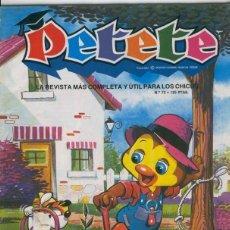 Coleccionismo de Revistas y Periódicos: PETETE NUMERO 072. Lote 206841135