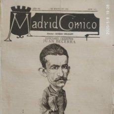 Coleccionismo de Revistas y Periódicos: MADRID CÓMICO. JUAN BECERRA Y LADRÓN DE GUEVARA, PERIODISTA Y ESCITOR, 1887, Nº 211. Lote 206966952