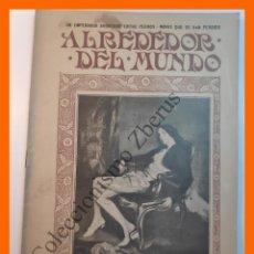Coleccionismo de Revistas y Periódicos: ALREDEDOR DEL MUNDO Nº431 4 SEPT 1907 - LINOLEUM; RUINAS ANGKOR; INTERIOR DE UN ACORAZADO;. Lote 206971160