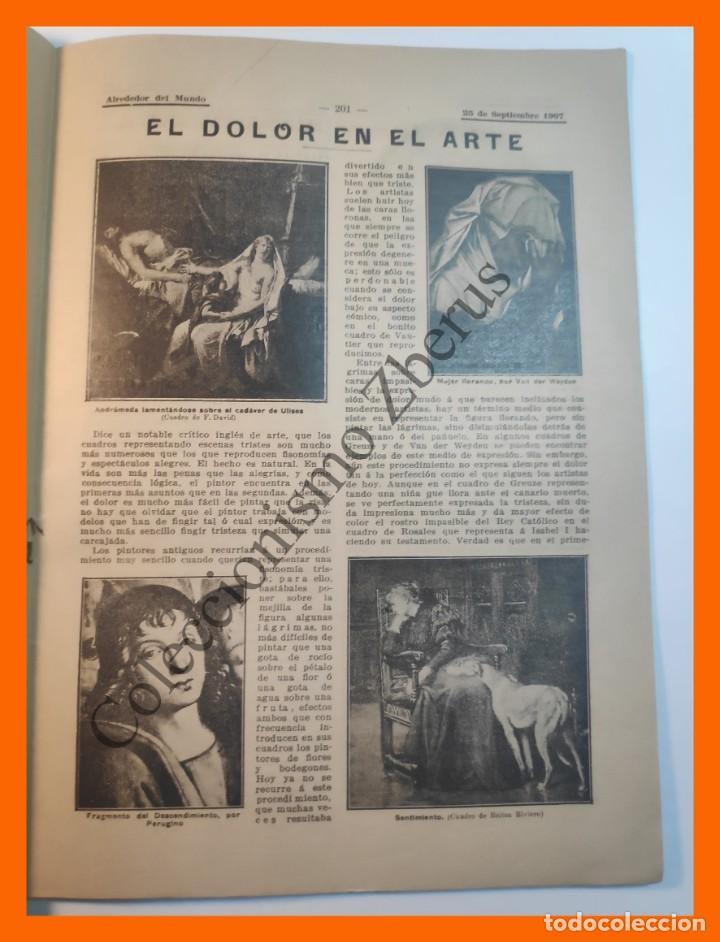 Coleccionismo de Revistas y Periódicos: Alrededor del Mundo nº434 25 Sept 1907 Caida de Babilonia; La Mujer en los Sellos; Dolor en el Arte - Foto 4 - 206972516