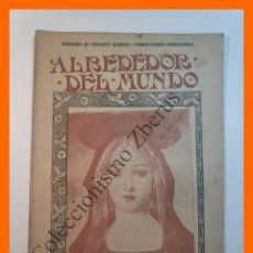 Coleccionismo de Revistas y Periódicos: ALREDEDOR DEL MUNDO Nº436 9 OCT 1907 - MERCADO DE ESCLAVOS BLANCOS; TRAGA SABLES; CABALLO FAMOSO. Lote 206973201