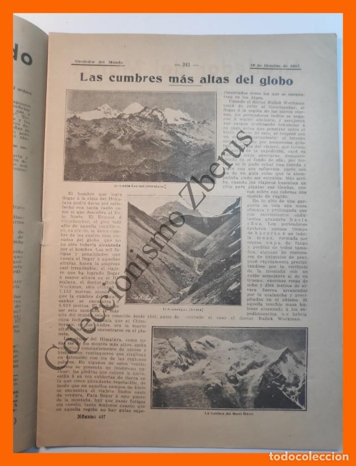 Coleccionismo de Revistas y Periódicos: Alrededor del Mundo nº437 16 Oct 1907 - Universidades españolas; Cumbres mas altas; Apendicitis - Foto 2 - 206974726