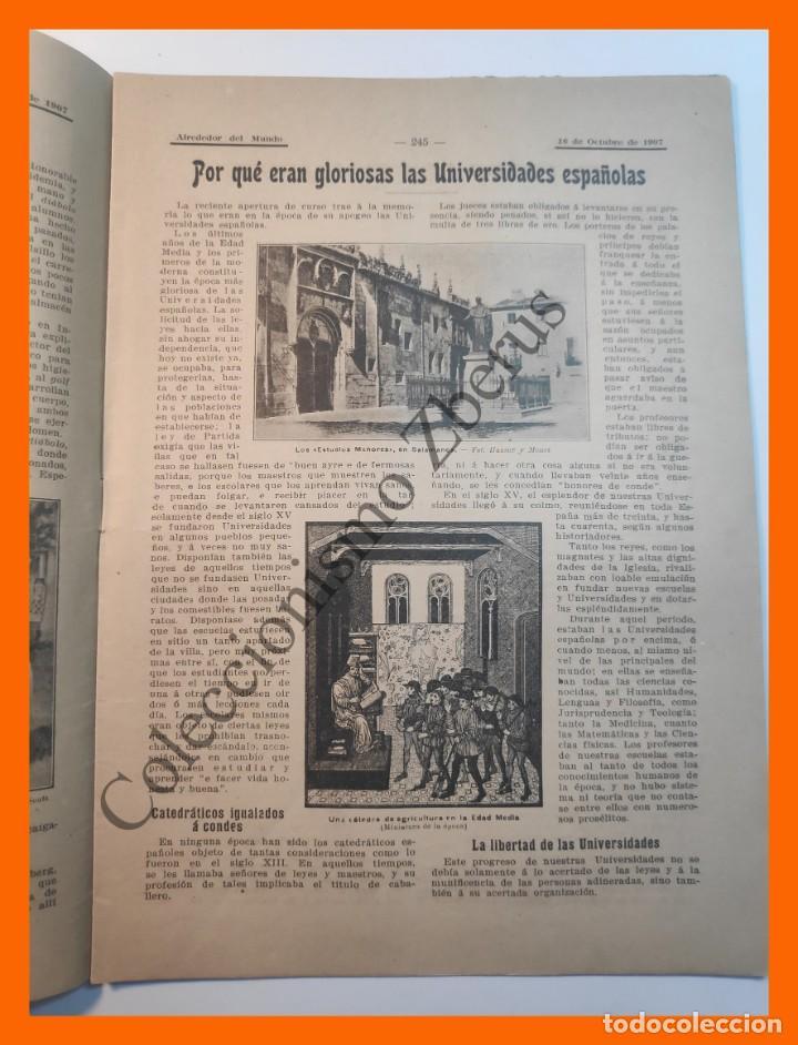 Coleccionismo de Revistas y Periódicos: Alrededor del Mundo nº437 16 Oct 1907 - Universidades españolas; Cumbres mas altas; Apendicitis - Foto 3 - 206974726
