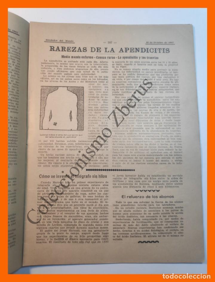 Coleccionismo de Revistas y Periódicos: Alrededor del Mundo nº437 16 Oct 1907 - Universidades españolas; Cumbres mas altas; Apendicitis - Foto 4 - 206974726