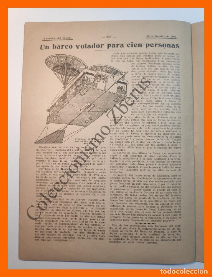 Coleccionismo de Revistas y Periódicos: Alrededor del Mundo nº437 16 Oct 1907 - Universidades españolas; Cumbres mas altas; Apendicitis - Foto 5 - 206974726