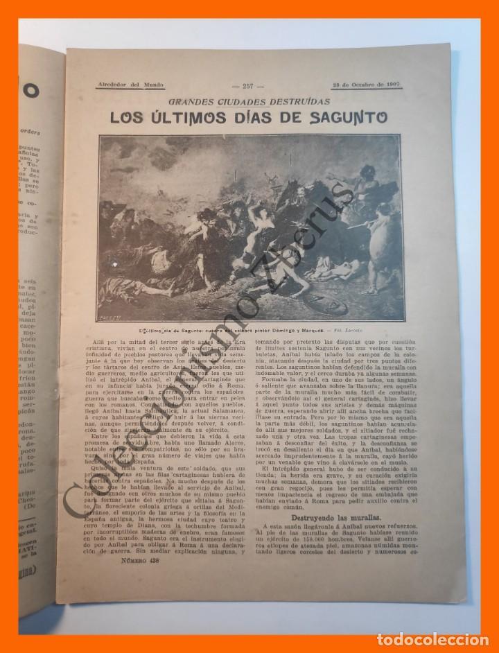 Coleccionismo de Revistas y Periódicos: Alrededor del Mundo nº438 23 Oct 1907 - Ultimos días de Sagunto; Numero trece; Ordenes de caballeria - Foto 2 - 206975005