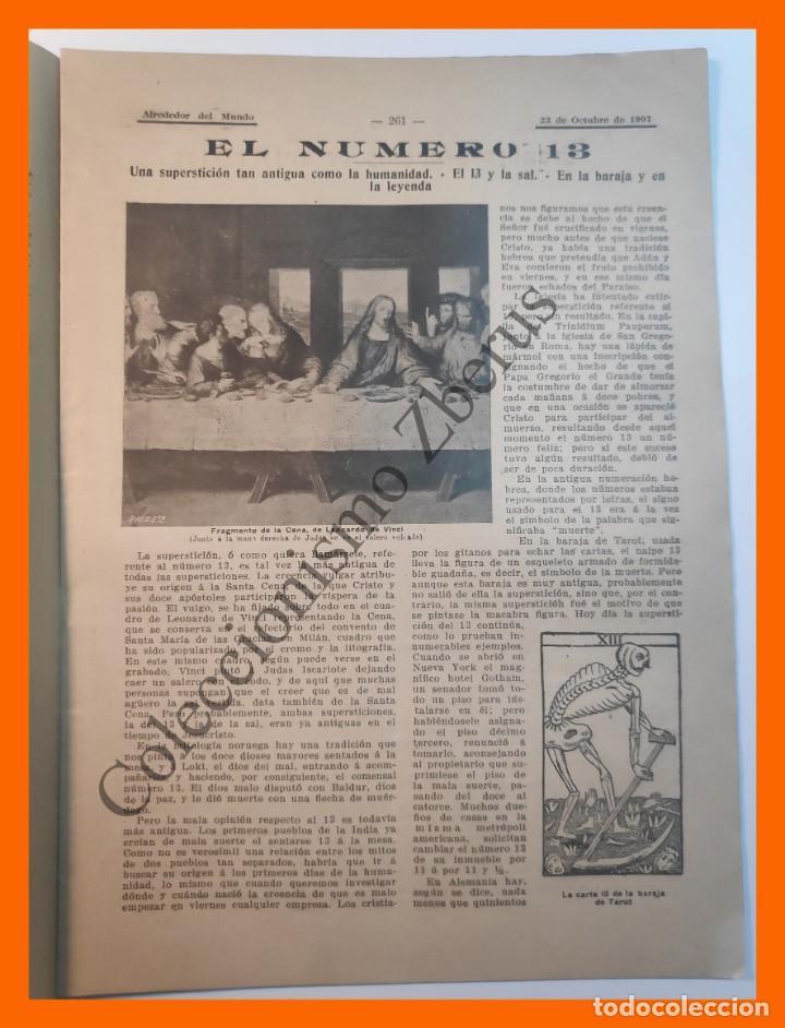 Coleccionismo de Revistas y Periódicos: Alrededor del Mundo nº438 23 Oct 1907 - Ultimos días de Sagunto; Numero trece; Ordenes de caballeria - Foto 3 - 206975005