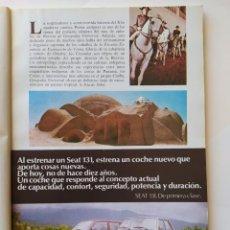 Coleccionismo de Revistas y Periódicos: PUBLICIDAD/ANUNCIO SEAT 131. DE PRIMERA CLASE - 1977. Lote 207008153